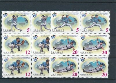 [17296] China 2001 : 4x Good Set of Very Fine MNH Stamps in Blocks