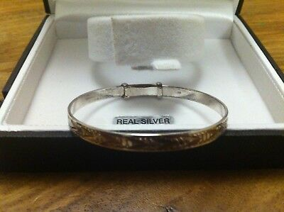 Sterling Silver Chapelle Baby/Infant Christening BraceletBoxed