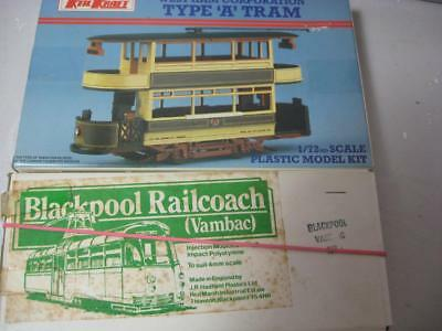 West Ham & Blackpool trams Model kits job lot unstarted perfect condition