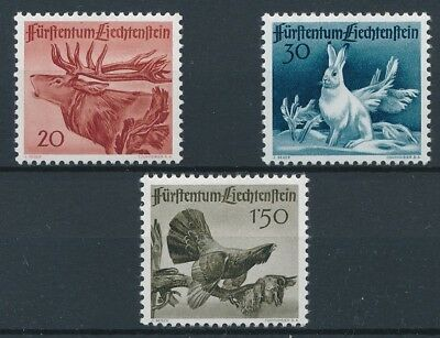 [37191] Liechtenstein 1946 Wild Animals Good set VF MNH stamps
