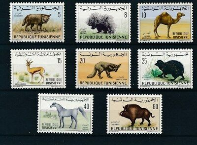 [37485] Tunisia 1968 Wild Animals Good set Very Fine MNH stamps