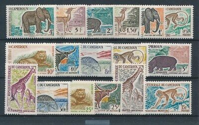 [37561] Cameroon 1962/64 Wild Animals Good set Very Fine MNH stamps
