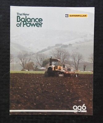 """1980's CATERPILLAR """"AG6 TRACK-TYPE AGRICULTURAL TRACTOR"""" CATALOG SALES BROCHURE"""