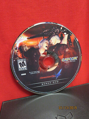 Devil May Cry 4 -- Collector's Edition (Microsoft Xbox 360, 2008) BONUS DVD ONLY