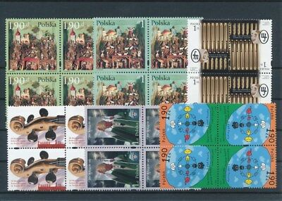 [G47171] Poland : Good Lot of Very Fine MNH Stamps in Blocks of 4