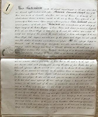 1851 / 1815 antique lease document John LEITHEAD of ALNWICK Northumberland