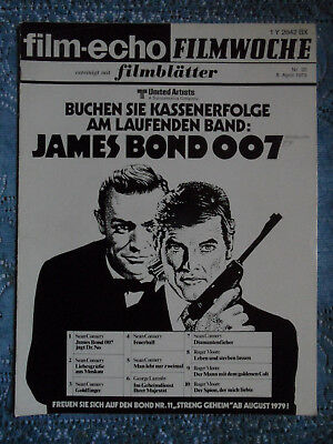 * James BOND - Titel * Fachzeitschrift FE/FW/FB, 1978 - Sean Connery Roger MOORE