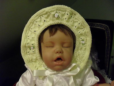 hand knitted princess  hat newborn  size