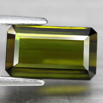 2.54Ct. Gracefully! Octagon Facet Neon Green Natural Tourmaline Nigeria