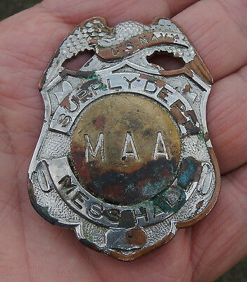 Obsolete W.S. Darley & Co U.S. Navy Supply Depot Master at Arms Mess Hall Badge
