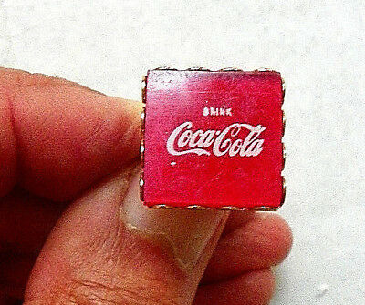 "Early ""drink Coca-Cola"" On Red Background Adjustable Ring"