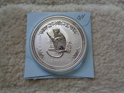 2004 Australia LUNAR MONKEY $1 1 oz .999 Silver coin in original capsule