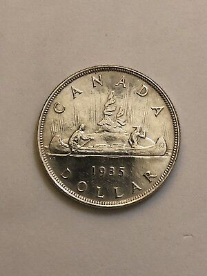 1935 Canada Silver Dollar Cleaned