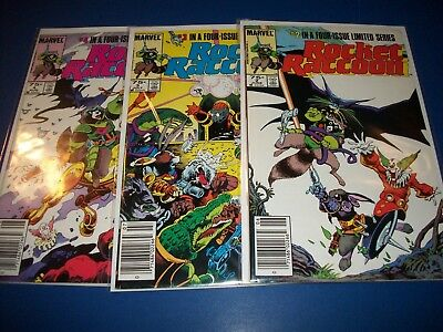Rocket Raccoon Limited Series #2,3,4 lot of 3 VF+ to NM- Beauties
