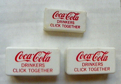 """(Lot Of 3) """"coca-Cola ~ Drinkers Click Together"""" Clickers"""