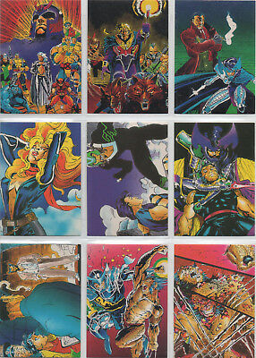 1991 Marvel Jim Lee X-Men Wolverine Comic Images Complete 90 Card Set NM/M