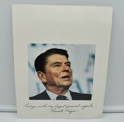 President Ronald Reagan, HAND SIGNED, AUTOGRAPH, 8 X 10, Republican Task Force