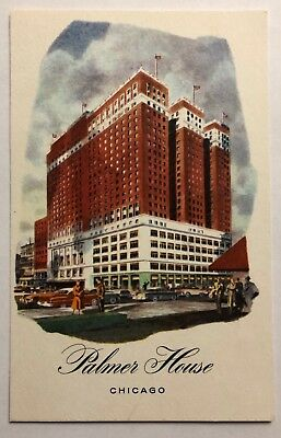 Vintage Postcard of Palmer House Hotel in Chicago, Illinois