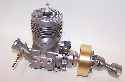 Original 1948 Dooling .61 7-Fin Spark Ign. Tether Car Engine With Flywheel