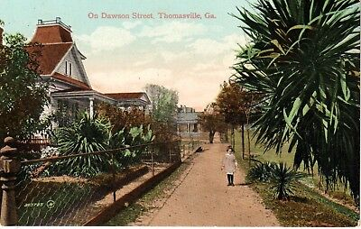 Early 1900's On Dawson Street (Dirt Street) in Thomasville, GA Georgia PC