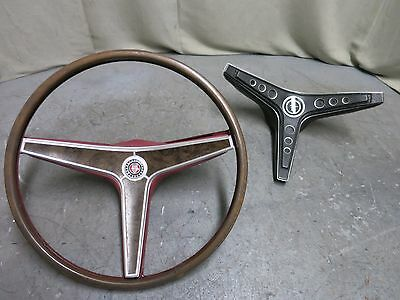 69 Mustang Mach1 Rim Blow Steering Wheel 69 Cougar XR7 Torino Steering Wheel Red