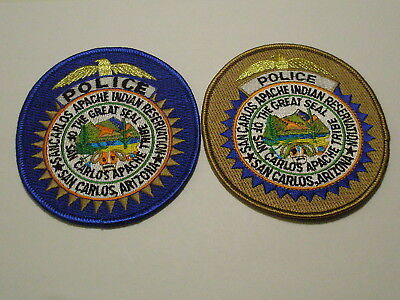 San Carlos Apache Indian Reservation Police Patch Arizona Tribe Tribal