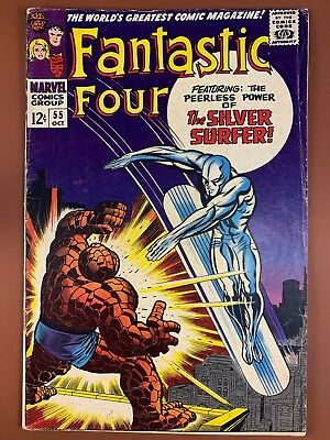 Fantastic Four #55 (1966 Marvel) Silver Surfer appearance Silver Age NO RESERVE