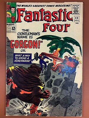Fantastic Four #44 (1965 Marvel) 1st appearance of Gorgan Silver Age NO RESERVE