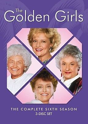 GOLDEN GIRLS COMPLETE SIXTH SEASON 6 Sealed New 3 DVD Set