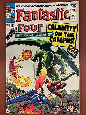 Fantastic Four #35 (1965 Marvel) Dragon Man appearance Silver Age NO RESERVE
