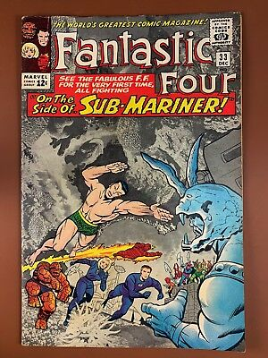 Fantastic Four #33 (1964 Marvel) Sub-Mariner appearance Silver Age NO RESERVE