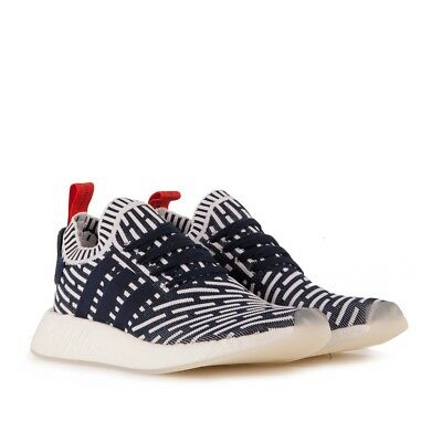 b3cb24386c2a4 Adidas NMD R2 PK Primeknit BB2909 Men Shoes Red White Blue USA Collegiate  NIB