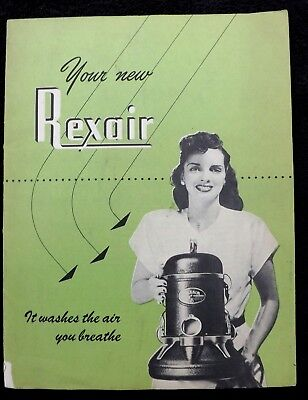 Vintage 1949 Rexair Booklet Brochure Vacuum Air Cleaner Conditioner Humidifier