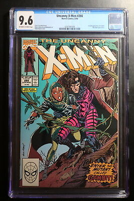 Marvel Uncanny X-Men #266 First Full Appearance of Gambit 8/90 CGC 9.6 VO