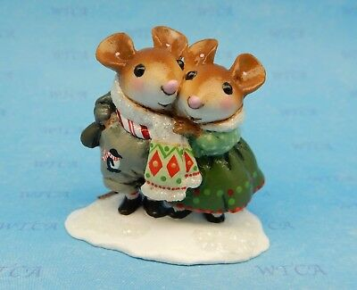 Wee Forest Folk COUPLED UP, WFF# M-456, with Penguin, Mouse Expo Event