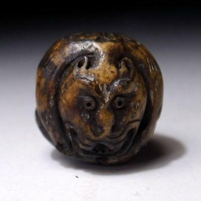 GC1: Antique Japanese Netsuke, Miniature Carving, Tiger, 19C