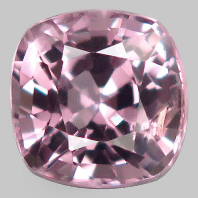 1.76ct.Hottest Luster! 100%Natural Silver Pink Spinel Unheated 7mm.AAA Nr!.