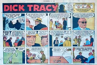 Dick Tracy by Chester Gould - large half-page color Sunday comic - Nov. 17, 1957