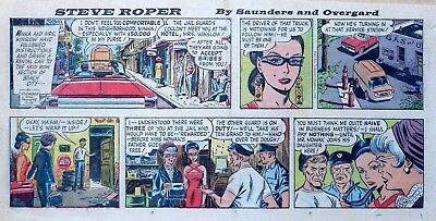 Steve Roper & Mike Nomad by Overgard - color Sunday comic page - August 28, 1966