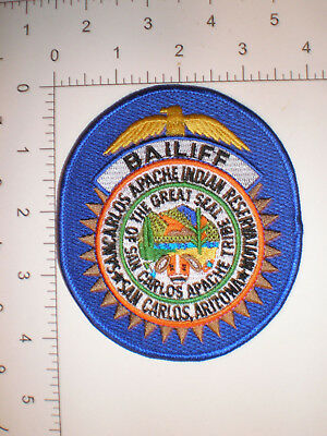 AZ Arizona San Carlos Apache Indian Tribe Court BAILIFF Tribal Police patch