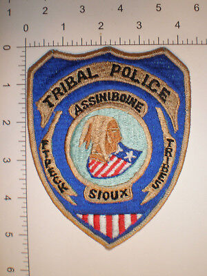 MT Montana Ft Peck ASSINIBOINE SIOUX Indian tribe Tribal Police VINTAGE patch
