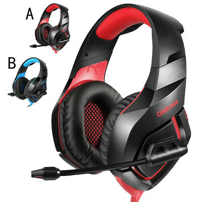 Stereo Bass Surround Audio Gaming Headset with Mic Headphone for PS4 Xbox One