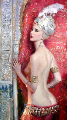 Naked dancer in the break Oil Painting Giclee Art Printed on canvas L1904