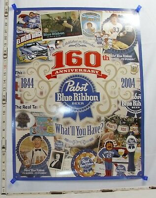 Pabst Blue Ribbon Pbr 160Th Anniversary What'll You Have Poster 2000