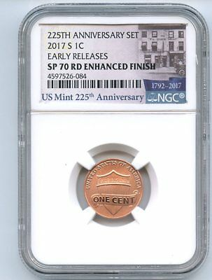 2017 S 1C Lincoln Cent Enhanced NGC SP70 Early Releases