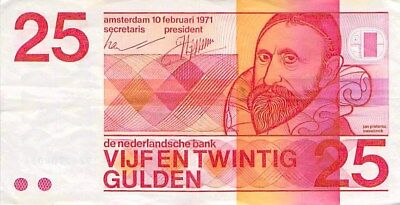 Netherlands 25 Gulden Note 1971 P-92