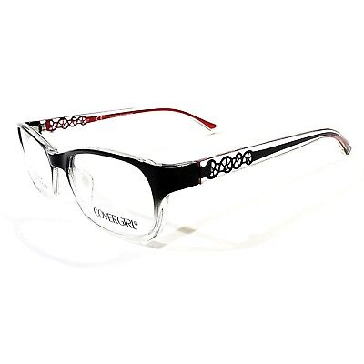c922cff417e6 New COVERGIRL Women's Optical Eyeglasses RX Frame CG0828 001 Black Red  52-17-135
