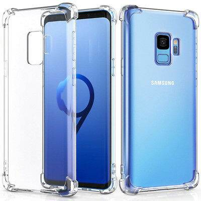 For Samsung Galaxy S9 Plus Case Clear Hybrid Shockproof Soft TPU Bumper Cover