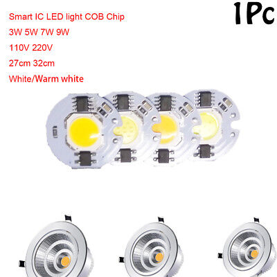 Smart IC Driver LED light Bulb COB Chip 3W 5W 7W 9W 110V 220V Input Integrated