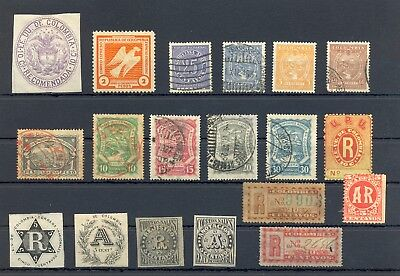 Colombia + Registered Airmail 19 Stamps --Most */0 --Most Vf -